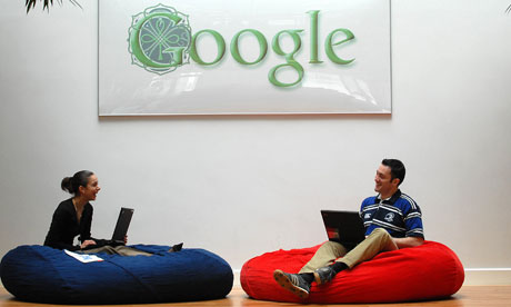 bean bags at Google HQ
