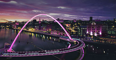Swing bridge, artist's impression, The Glow, Gateshead