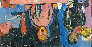 Georg Baselitz: dinner in Dresden