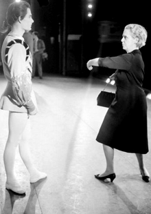 Ninette de Valois demonstrates a move in 1964