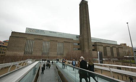Tate Modern Museum, Bankside, Millennium Bridge approach