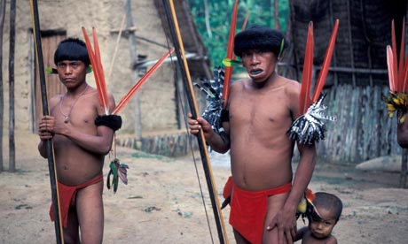 Yanomami tribespeople of Venezuela and Brazil