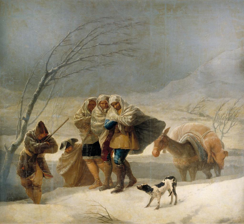 Dashing Through The Snow Francisco De Goya S Snowstorm