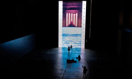 Tall story … viewers experience Tacita Dean's Film in Tate Modern's Turbine Hall.