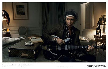 Rolling Stone Keith Richards in a Louis Vuitton advert