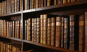 Shelf of books at the Bodleian library