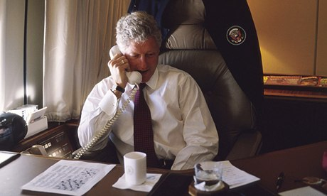 President Clinton On Air Force One