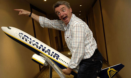 Ryanair chief executive Michael O'Leary. Photograph: Giuseppe Aresu/Rex Features