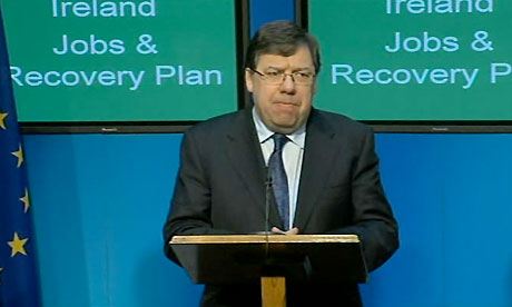 Brian Cowen speaking at press conference Nov 24