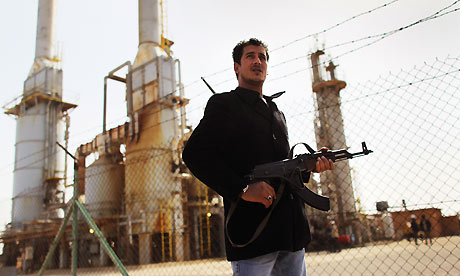 Libyan oil refinery in Al Brega