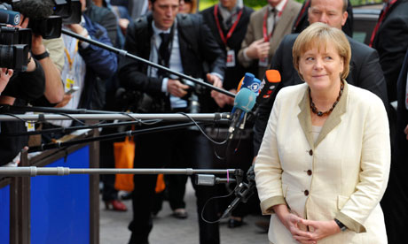 Angela Merkel arrives at the an eurozone leaders' summit, 21 July 2011