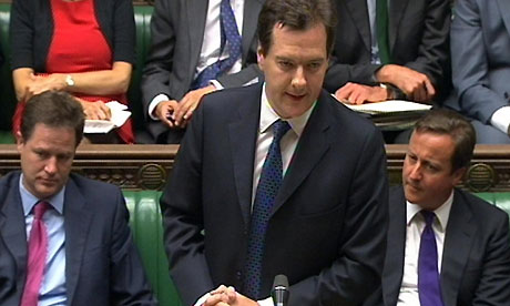 Chancellor George Osborne gives a statement to the House of Commons on the economy