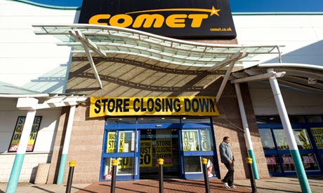 Comet during its closing down sale in London