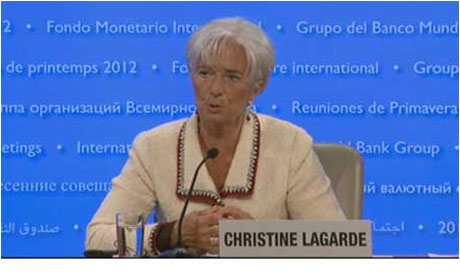 Christine Lagarde, managing director of the IMF.