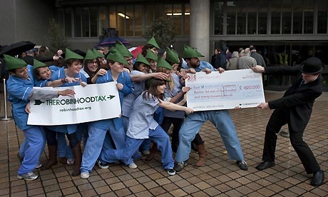 Robin Hood tax group at Barclays AGM