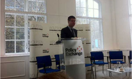 Lord Simon Wolfson at Policy Exchange for the Wolfson Prize shortlist.