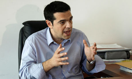 Alexis Tsipras, head of Greece's radical left SYRIZA party.