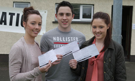 Triplets voting in the EU Fiscal treaty referendum in Dundalk, Co Louth.