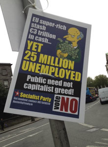 No campaign poster from Irish fiscal compact referendum