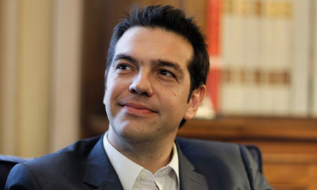 Alexis Tsipras , Greek leader of Coalition of the Radical Left party (SYRIZA).