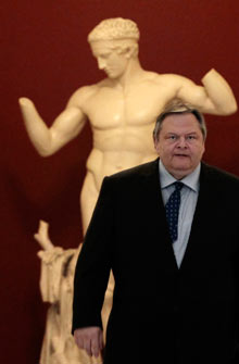 Leader of the Socialist PASOK party Evangelos Venizelos.