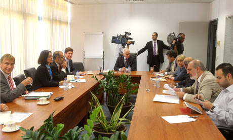 Troika representatives in Nicosia, Cyprus