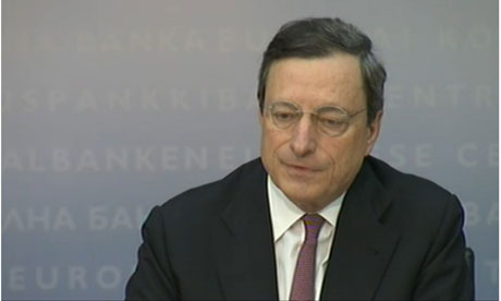 Mario Draghi at the European Central Bank press conference, 5 July 2012.