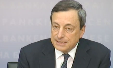 Mario Draghi at European Central Bank