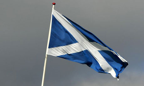 The Scottish flag