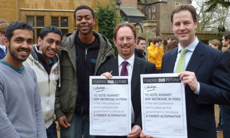 Nick Clegg signs NUS pledge on tuition fees