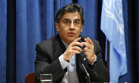 Bolivian Ambassador Pablo Solon-Romero to the UN