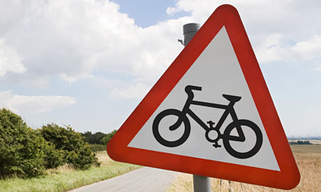Bike Blog : Warning road sign for cyclist