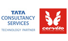 Tata Consultancy Services (TCS) and Cervelo test team logos