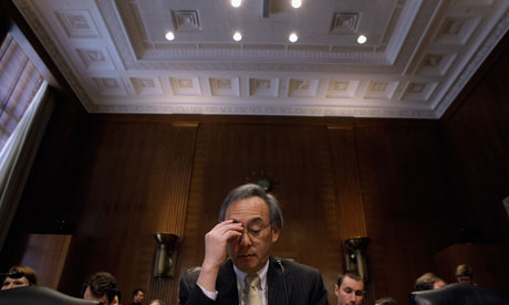 U.S. Energy Secretary Steven Chu prepares to testify before the Senate