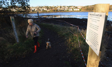 MoD nuclear pollution  At Former Military Airfield Dalgety Beach