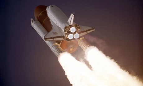 Space Shuttle Atlantis takes flight on its STS-27 mission