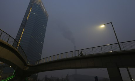 Air pollution in China : a chimney from a coal power plant