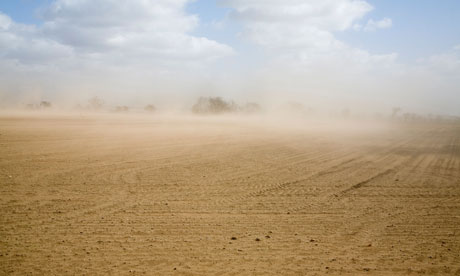 Nafeez Blog on Peak soil : Wind causing soil erosion in fields, Suffolk Sandlings