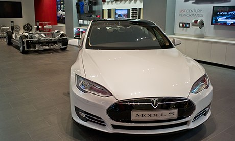 Tesla shop at Westfield London
