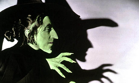 Margaret Hamilton as the Wicked Witch of the West in The Wizard of Oz