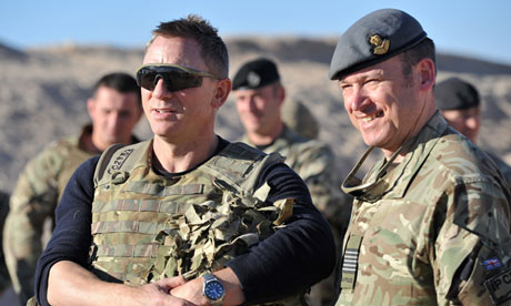 Daniel Craig James Bond in Afghanistan meeting the troops