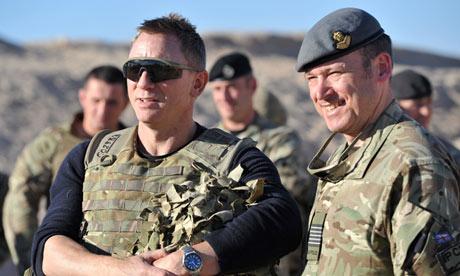 Daniel Craig James Bond in Afghanistan meeting the troops