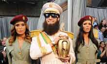 Oscars 2012: Sacha Baron Cohen with an urn of Kim Jong Il's ashes