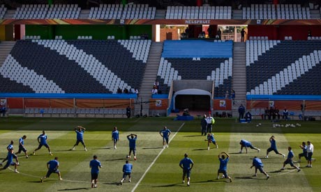 The Honduras squad prepare to face Chile