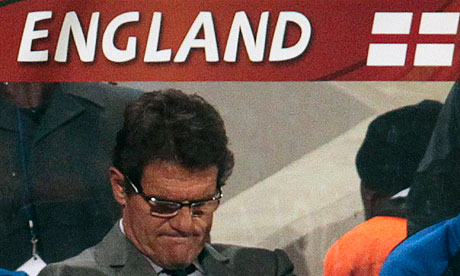 Fabio Capello during England's 4-1 thrasing to Germany in Bloemfontein