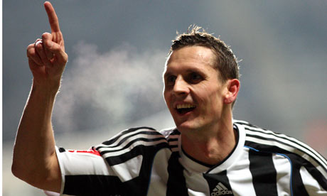 Peter Lovenkrands scoring a nice amount of goals for Newcastle United this season
