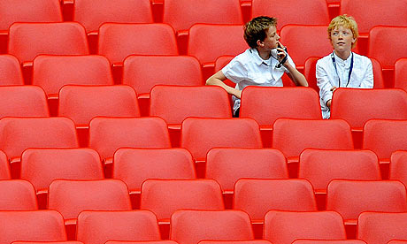 Fans in the seats at Wembley