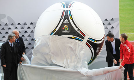 The official Euro 2012 match ball