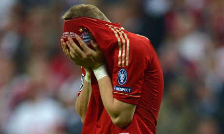 Bastian Schweinsteiger misses in the penalty shoot out
