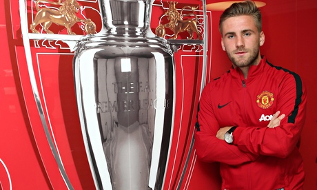 Shaw with the Premier League trophy